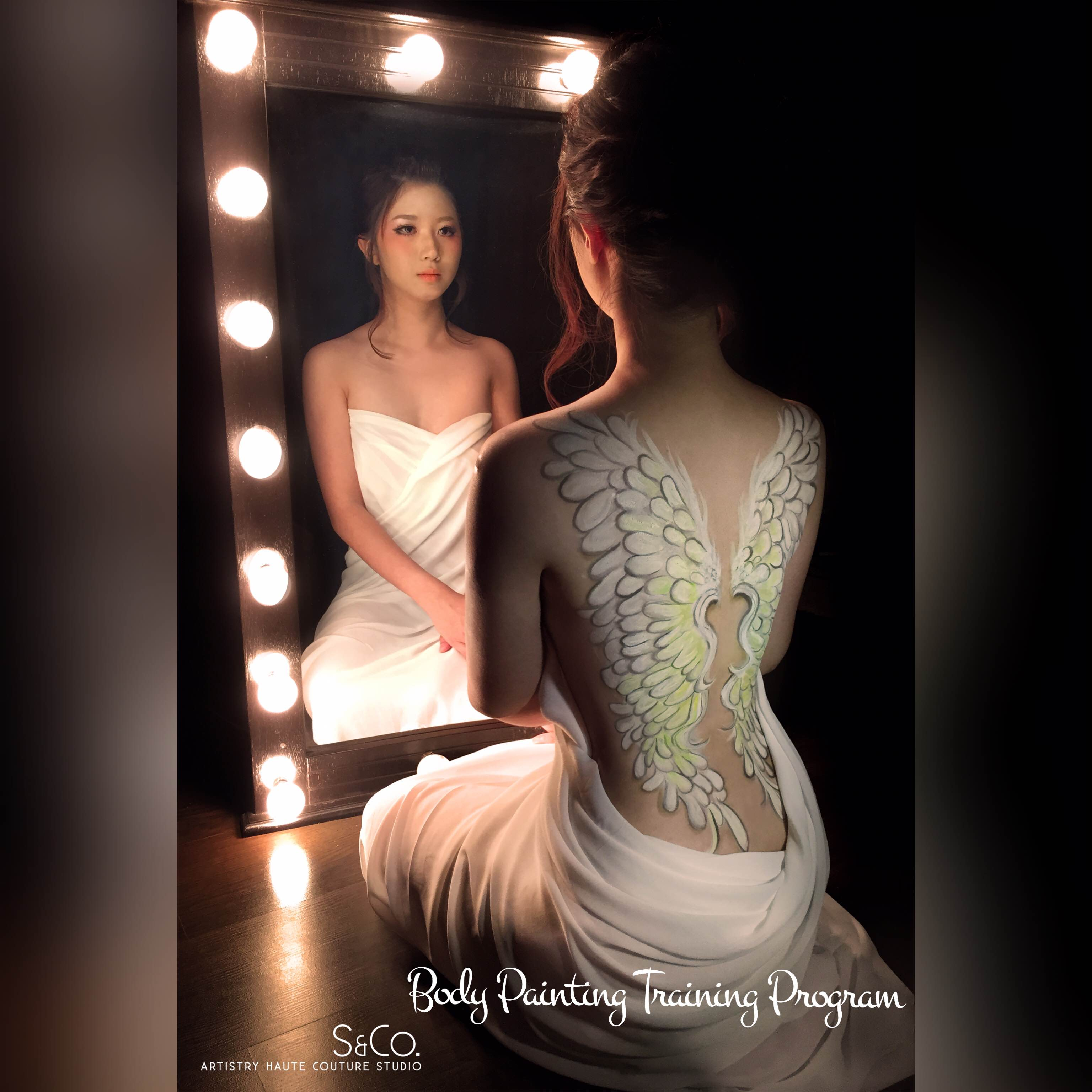 malaysia professional makeup, hairstyle, body painting and real
